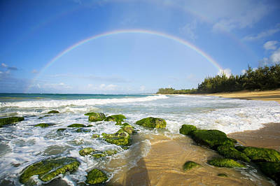 Photograph - Rainbow Over Baldwin Beach by Ron Dahlquist - Printscapes