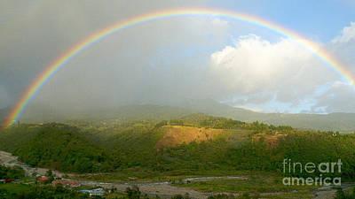 Rainbow Over Boquete Print by Heiko Koehrer-Wagner