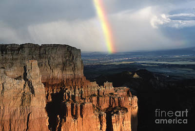 Photograph - Rainbow Over  Bryce Canyon by Sandra Bronstein