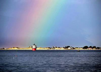 Photograph - Rainbow Over Bug Light by Janice Drew
