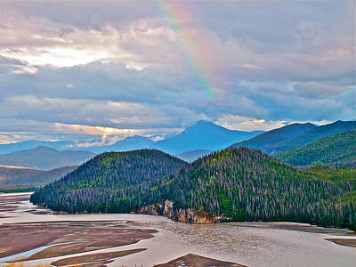 Elias Digital Art - Rainbow Over Chitina River From Mccarthy Road In Wrangell-saint Elias National Park-alaska  by Ruth Hager