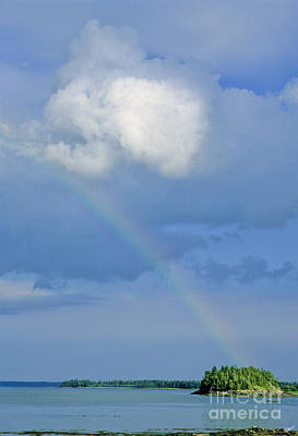 Maine Landscapes Photograph - Rainbow Over Cobscook Bay by Alana Ranney