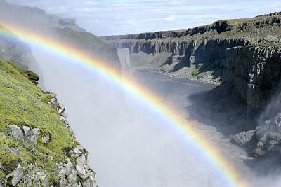 Photograph - Rainbow Over Dettifoss Falls by E.r. Degginger