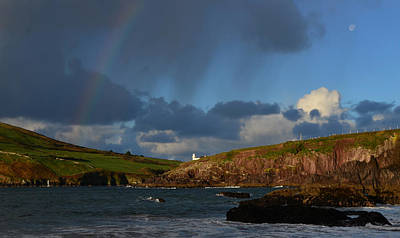 Photograph - Rainbow Over Dingle Bay by Barbara Walsh