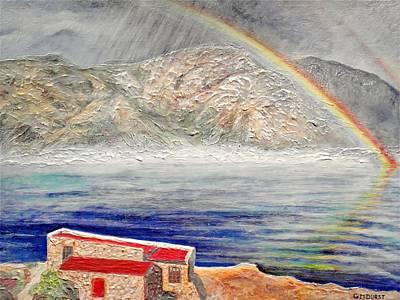 Rainbow Over Hermanus Original by Michael Durst