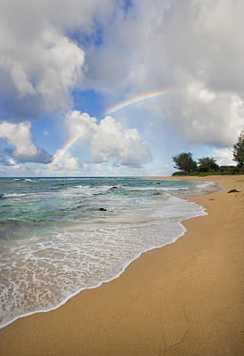 Photograph - Rainbow Over Kauai Beach by M Swiet Productions