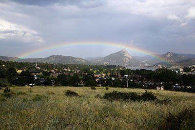 Rainbow Over Lake Estes Art Print