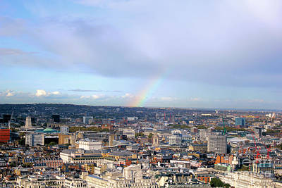 Rainbow Over London Art Print