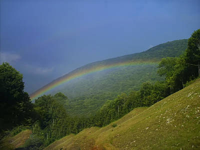 Digital Art - rainbow over Maggie valley by Chris Flees