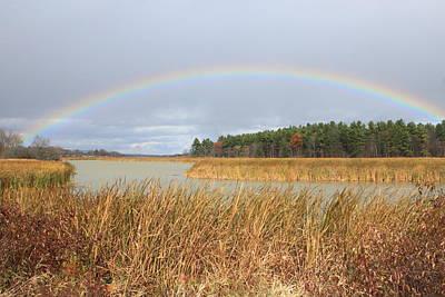 Photograph - Rainbow Over Marsh by John Burk
