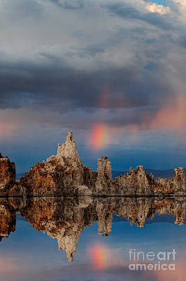 Photograph - Rainbow Over Mono Lake by Dennis Flaherty