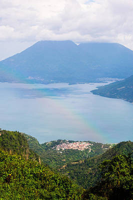 Photograph - Rainbow Over Mountain Lakes by Parker Cunningham
