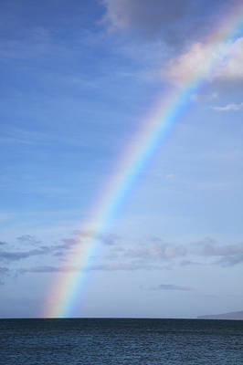 Photograph - Rainbow Over Ocean by Jenna Szerlag
