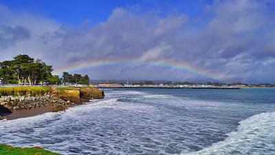 Rainbow Over Santa Cruz Art Print
