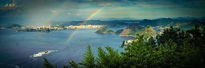 Photograph - Rainbow Over Sea by Celso Diniz