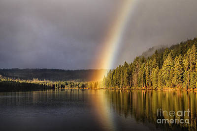 Photograph - Rainbow Over Suttle Lake by Stuart Gordon