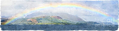 Rainbow Over The Isle Of Arran Art Print
