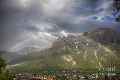 Photograph - Rainbow Over The Karwendel In Mittenwald by Fabian Roessler