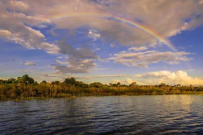 Rainbow Over The Lake Art Print by Zina Stromberg