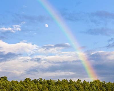 Photograph - Rainbow Over The Moon by Alan L Graham