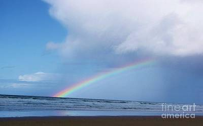 Photograph - Rainbow Over The Ocean by Michele Penner