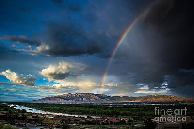 Rainbow Over The Sandias Art Print by Jim McCain