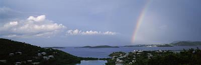 Rainbow Over The Sea, Pillsbury Sound Art Print by Panoramic Images