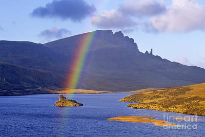 Rainbow Over The Storr Art Print by Derek Croucher