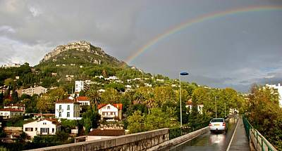 Photograph - Rainbow Over Vence by Eric Tressler