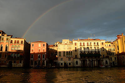 Photograph - Rainbow Over Venice by Barbara Walsh