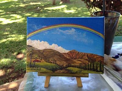 Miniature Painting - Rainbow Over West Maui by Darice Machel McGuire