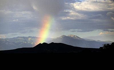 Taos New Mexico Photograph - Rainbow Over Wheeler Peak by Buddy Mays