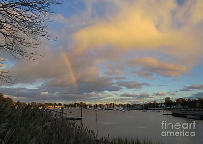 Rainbow Over Wickford Art Print