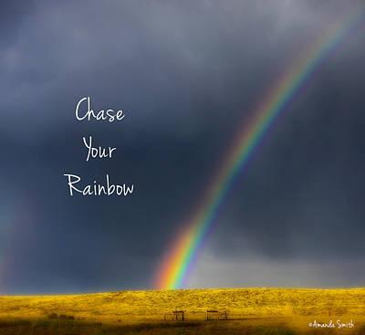 Chase Your Rainbow Art Print by Amanda Smith