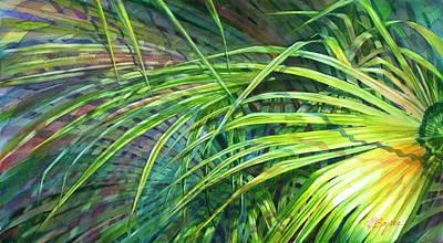 Rainbow Palms Art Print