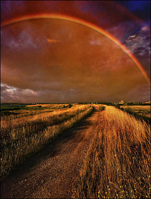 Silver Turquoise Photograph - Rainbow Path by Adrian Campfield
