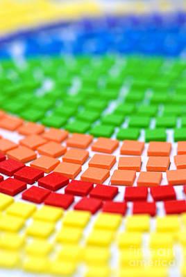 Rows Digital Art - Rainbow Pattern by Amy Cicconi