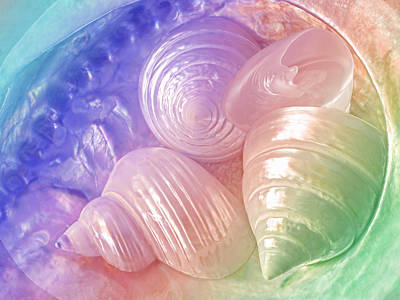Rainbow Pearl Treasure Art Print by Gill Billington