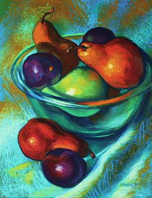 Painting - Rainbow Pears by Peggy Wrobleski