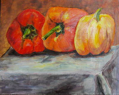 Painting - Rainbow Peppers by Maureen Pisano