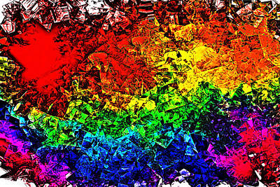 Digital Art - Rainbow Pieces by Bartz Johnson