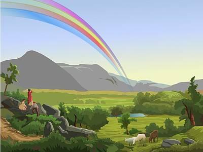 Digital Art - Rainbow by Prakash Leuva