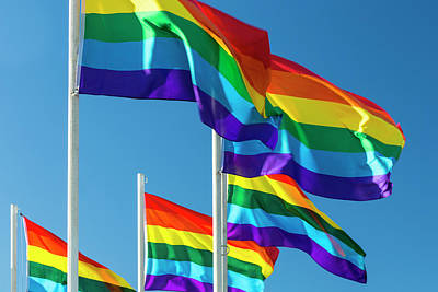 Gay Rights Wall Art - Photograph - Rainbow Pride Flags by Stuart Dee