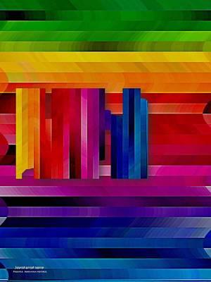 Arc-en-ciel Digital Art - Rainbow by Prosper Abitbol