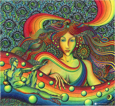 Trippy Painting - Rainbow Queen by Jeff Hopp