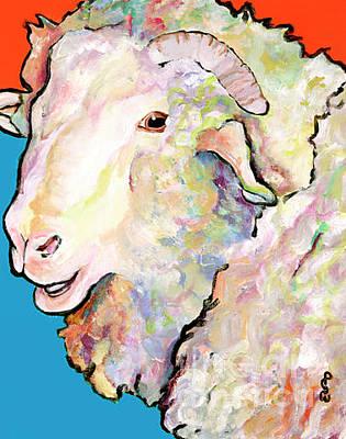Painting - Rainbow Ram by Pat Saunders-White