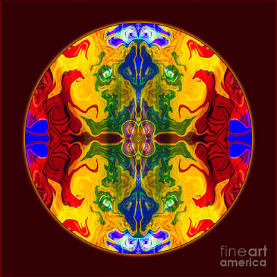 Digital Art - Rainbow Revelations Abstract Mandala Artwork By Omaste Witkowski by Omaste Witkowski