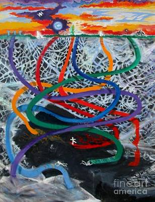 Painting - Rainbow Ribbons by Myra Maslowsky