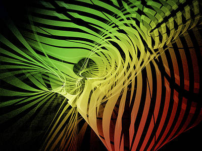 Digital Art - Rainbow Ribs by Richard J Cassato