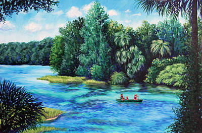 Rainbow River At Rainbow Springs Florida Art Print by Penny Birch-Williams